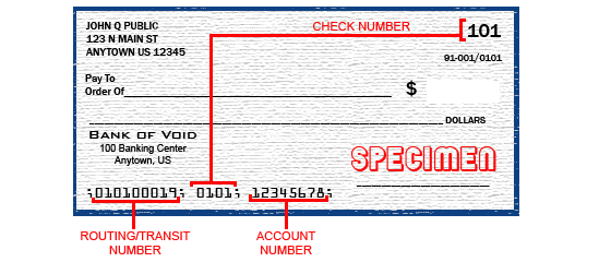 Locate a routing number