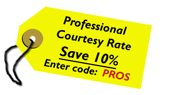 1o% Professional Courtesy Discount